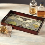 World Map Bar Tray