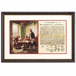 Writing of the Declaration Print