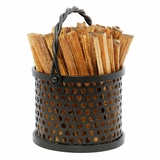 Wrought Iron Caddy with Fatwood