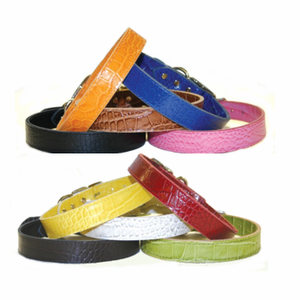 1/2 in wide Faux Crocodile Dog Collars