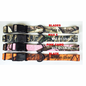 1 in Personalized Camo Kwik Klip Dog Collars