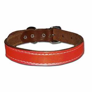 1-Ply Regular Reflective Leather Dog Collar