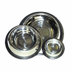1 Quart Non-Tip Stainless Steel Dog Bowl