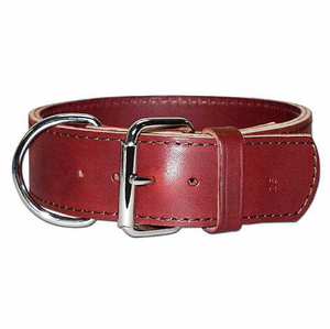 2 inch wide Leather Dog Collar