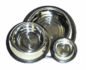2 Quart Non-Tip Stainless Steel Dog Bowl