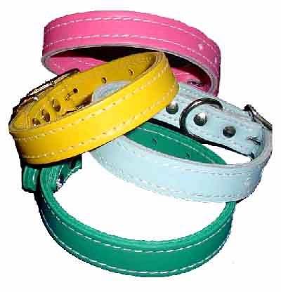 3/4 inch Wide Leather Dog Collars