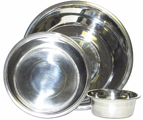 3 Quart Stainless Steel Dog Bowls