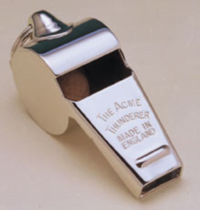 Acme Nickel Plated Brass Whistles