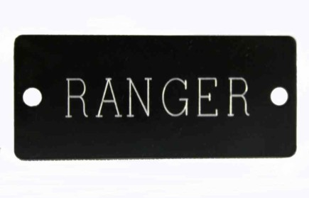 Aluminum Name Plate for Dog Collar