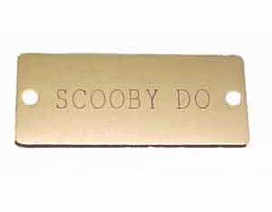 <Big><B>Aluminum Name Plate For Dog Collar</Big></B>