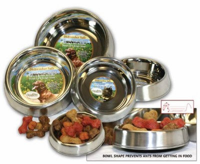 Ant Resistant Stainless Steel Pet Bowls