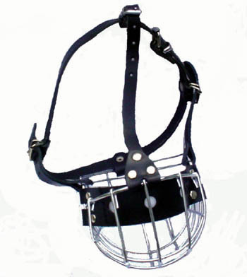 Boxer or Pit Bull Wire Basket Dog Muzzle