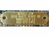 Brass Name plate for Dog Collars
