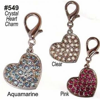 Crystal Heart Charms