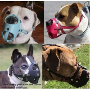 Custom Leather Dog Muzzles