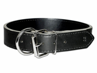 Front Dee Thick Leather Collar 1-1/2 Inches Wide