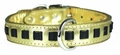 Louisiana Pride Gold Dog Collar