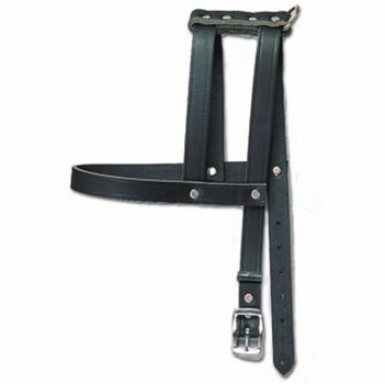 H-Style Buckle Leather Harness  1 Inch Wide