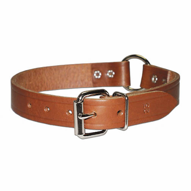 Heavy Oiled Ring-in-Center Bully Collar 3/4 inch wide