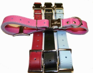 Leather ID Collar (adj. 22 to 25 inches)