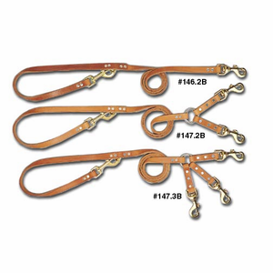 Multi Purpose Leather Dog Leads