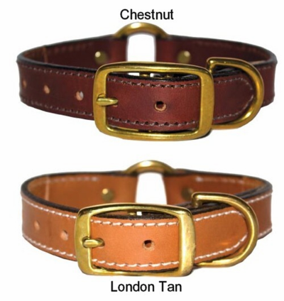 Premium 1 inch Ring in Center Leather Collar