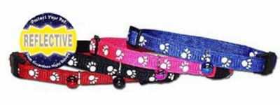 Reflective Paw Print Cat Collar