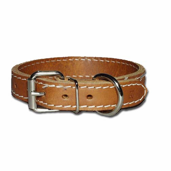 Regular Two-Ply Leather Collar 1 Inch Wide