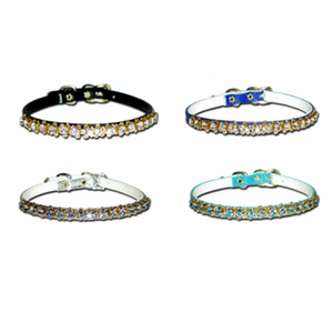 Rhinestone Dog Collars 1/4 Inch Wide