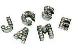 <BIG><font color=FF0000> Rhinestone Letters and Charms</font></BIG>