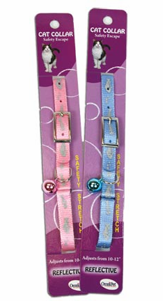 Safety Stretch Cat Collar with Reflective Fish