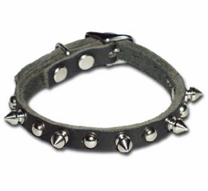 OmniPet Spiked And Stud Leather Dog Collar