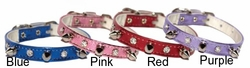 Spikes and Jewels Vinyl Dog Collar