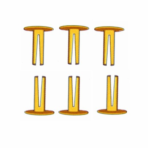 Split Rivets to attach Dog Collar Name Plates (200 Pack)