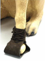 Suede Leather Lace Up Dog Boots