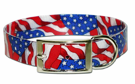 USA Stars and Stripes Dog collar