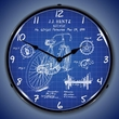 1899 Bicycle Patent Wall Clock, LED Lighted