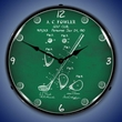 1910 Golf Club Patent Wall Clock, LED Lighted