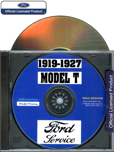 1919-1927 Ford Model T Shop Manual on CD-ROM