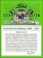 1928-1931 Ford Service Bulletins (Mechanical)