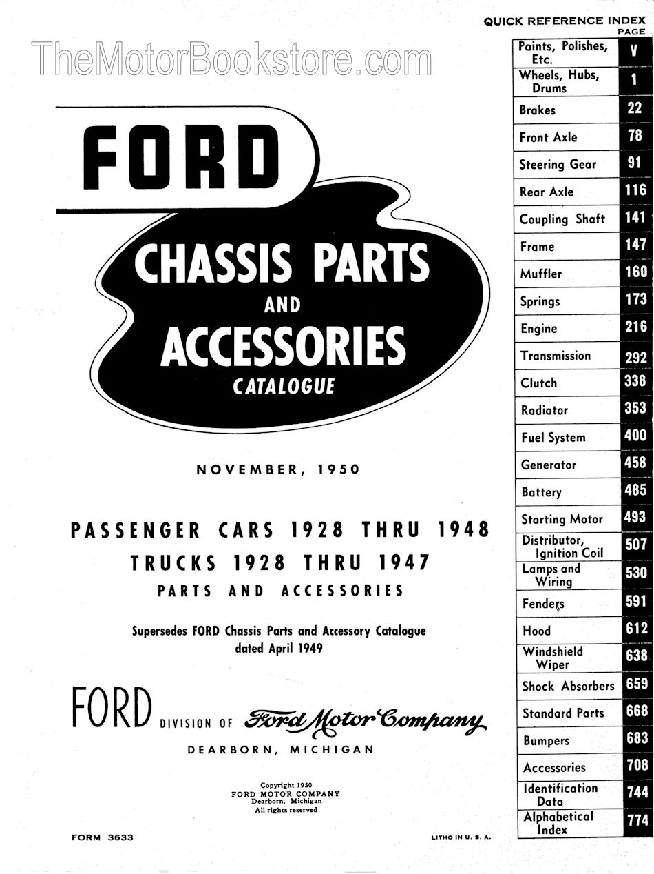 1928 48 Ford Car 47 Truck Parts Book Green Bible Pu Wiring