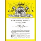 1932-1937 Ford Service Bulletins (Mechanical)