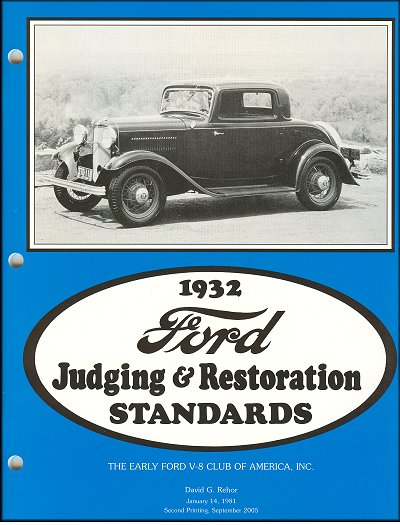 1932 Ford Judging & Restoration Standards - The Early Ford V8 Club of America