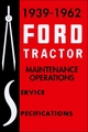 1939-1962 Ford Tractor Maintenance and Service Specs