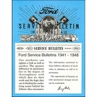 1941-1948 Ford Service Bulletins (Mechanical)