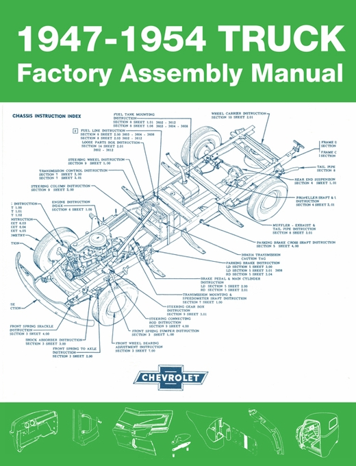 chevy truck factory assembly manual 1947 1954 print version rh themotorbookstore com