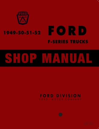 1949-1952 Ford Truck Shop Manual