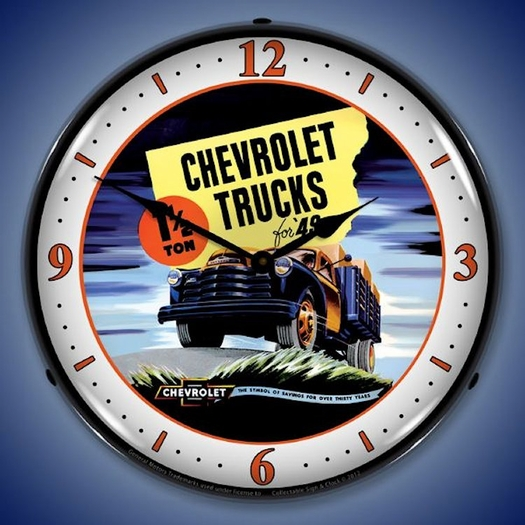 1949 Chevrolet Truck Wall Clock, LED Lighted