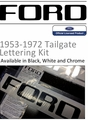 1953-1972 Ford Truck Tailgate Lettering Decals