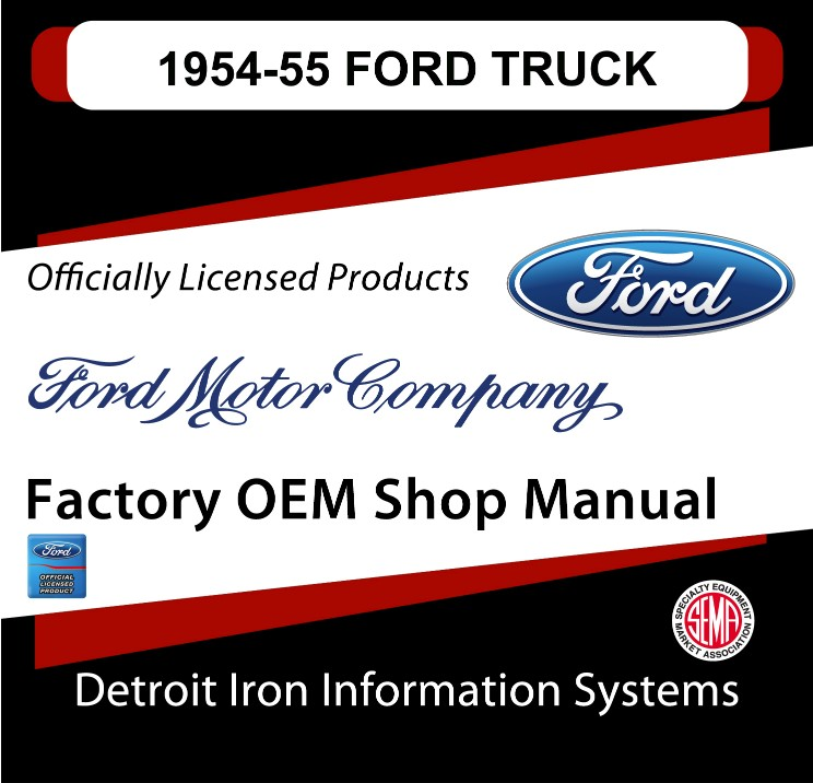 1954-1955 Ford Truck OEM Manuals - CD